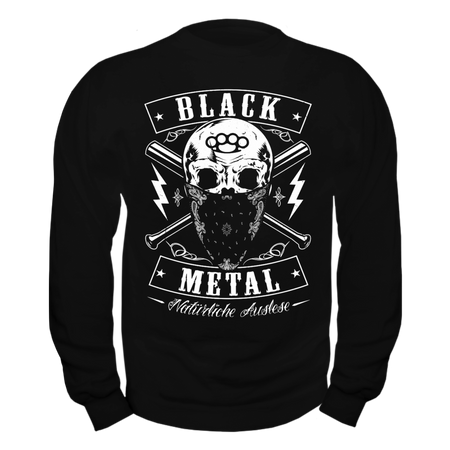 Männer Sweatshirt BLACK METAL