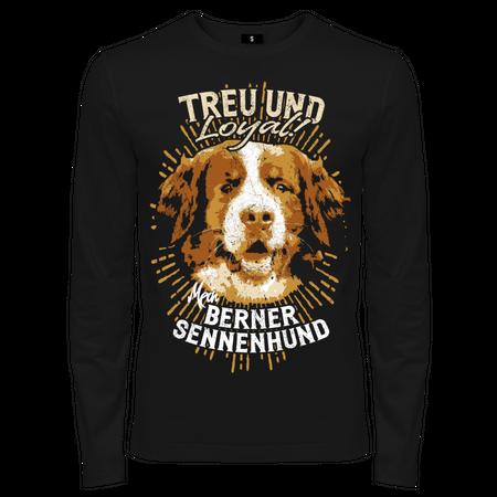 Männer Longsleeve Berner Sennenhund - Treu und Loyal