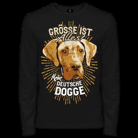 Männer Longsleeve Deutsche Dogge - größe ist alles