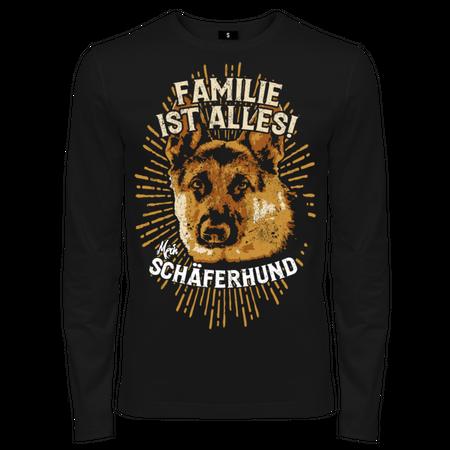 Männer Langarm Deutscher Schäferhund - Familie ist alles