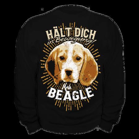 Männer Sweatshirt Beagle - hält dich in bewegung