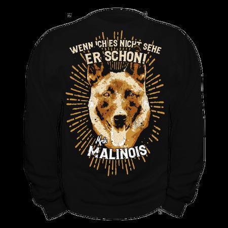 Männer Sweatshirt Malinois - wenn ich es nicht sehe er schon