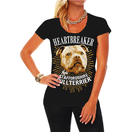 Frauen Shirt Staffordshire Bullterrier - Heartbreaker