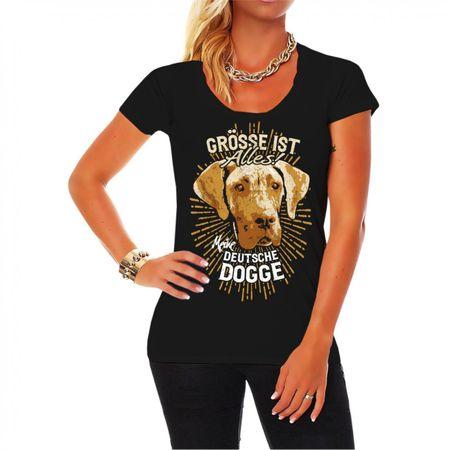 Frauen Shirt Deutsche Dogge - Größe ist alles