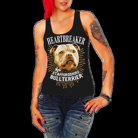 Frauen Trägershirt Staffordshire Bullterrier - Heartbreaker