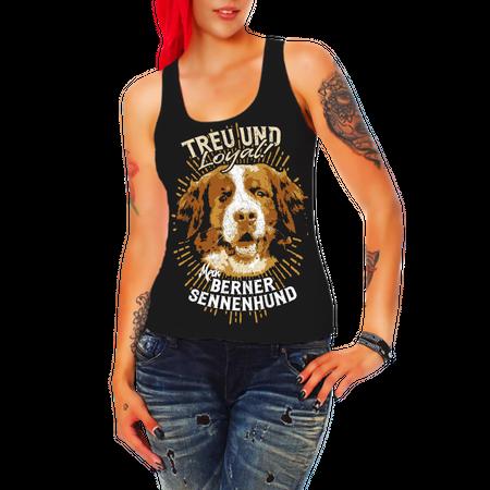 Frauen Trägershirt Berner Sennenhund - Treu und Loyal