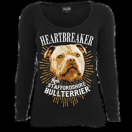 Frauen Longsleeve Staffordshire Bullterrier - Heartbreaker
