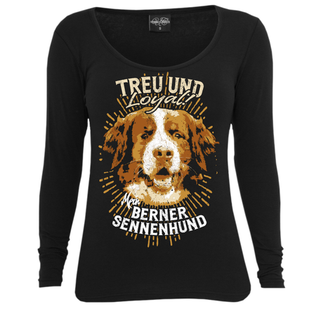 Frauen Longsleeve Berner Sennenhund - Treu und Loyal