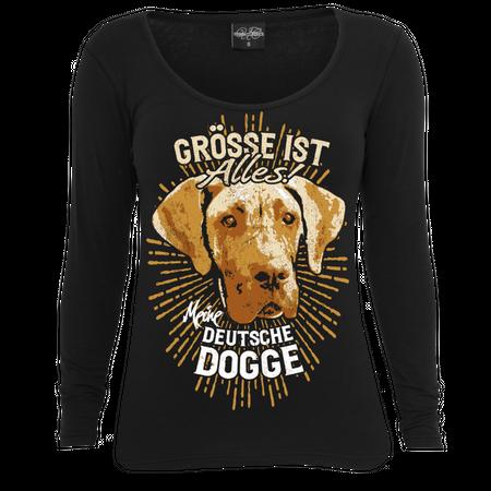 Frauen Longsleeve Deutsche Dogge - größe ist alles