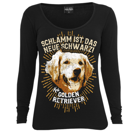 Frauen Longsleeve Golden Retriever Spruch