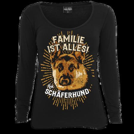 Frauen Longsleeve Deutscher Schäferhund - Familie ist alles