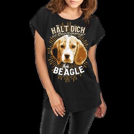 Frauen lässiges Shirt Beagle - hält dich in bewegung