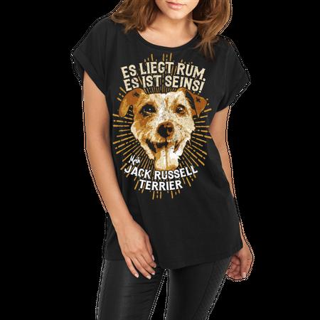 Frauen lässiges Shirt Jack Russell Terrier - es liegt rum, es ist seins