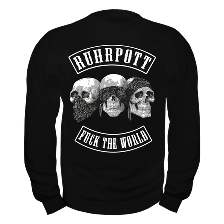 Männer Sweatshirt RUHRPOTT Fuck the World