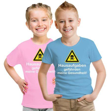 Kinder T-Shirt HAUSAUFGABEN gefährden meine Gesundheit