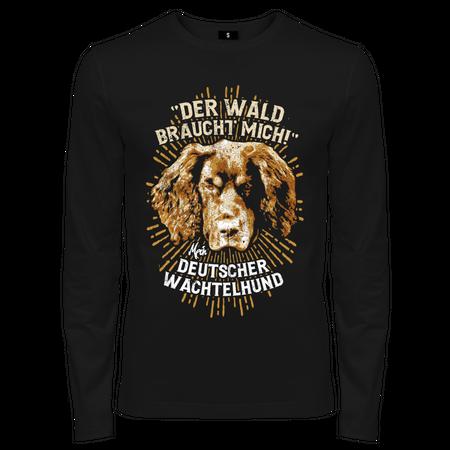Männer Longsleeve Deutscher Wachtelhund - Der Wald braucht mich