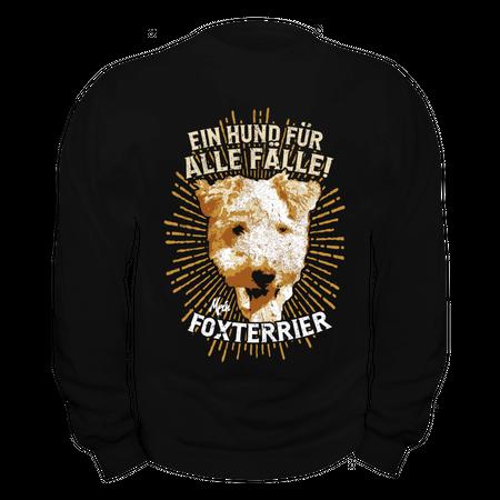 Männer Sweatshirt Foxterrier - Ein Hund für alle Fälle