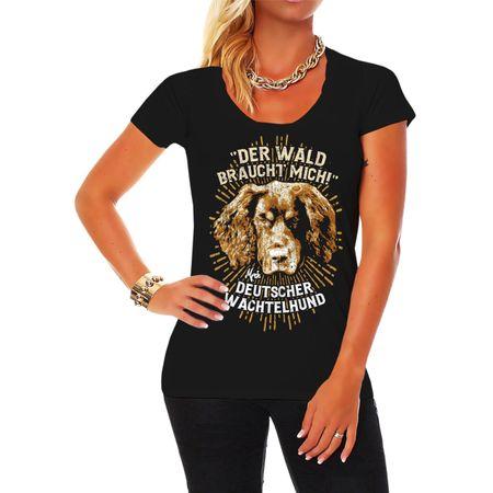 Frauen Shirt Deutscher Wachtelhund - Der Wald braucht mich