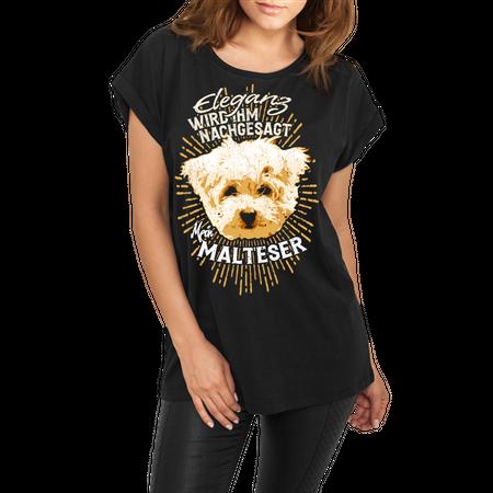 Frauen lässiges Shirt Malteser - Eleganz wird ihm nachgesagt