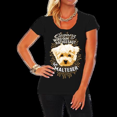 Frauen Shirt Malteser - Eleganz wird ihm nachgesagt