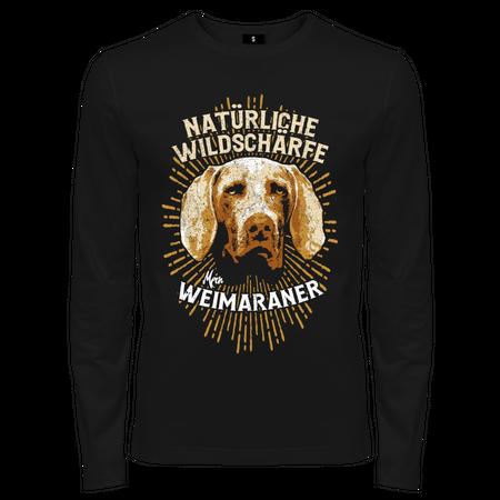 Männer Longsleeve Weimaraner - Natürliche Wildschärfe