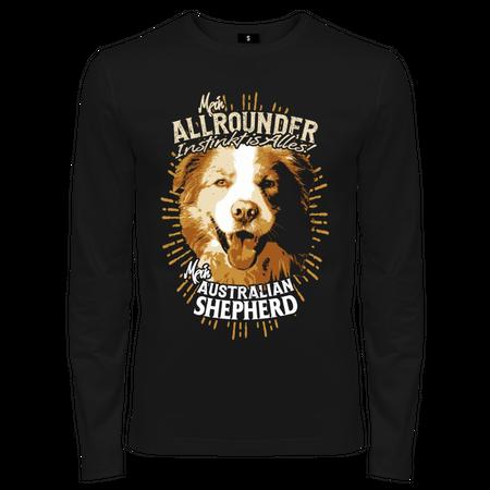Männer Longsleeve Australian Shepherd - Allrounder Instinkt ist alles