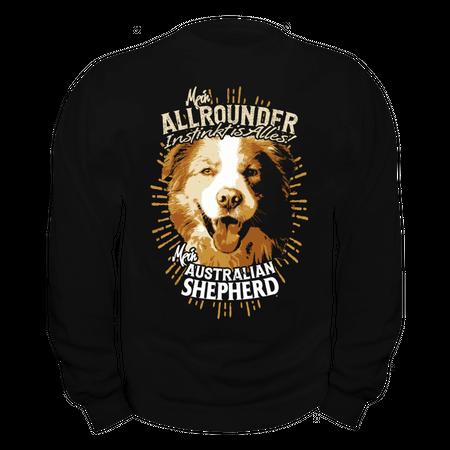 Männer Sweatshirt Australian Shepherd - Allrounder Instinkt ist alles
