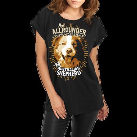 Frauen lässiges Shirt Australian Shepherd - Allrounder Instinkt ist alles