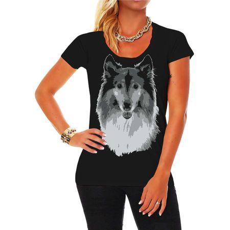 Frauen Shirt Langhaar Collie BOSS (neu)