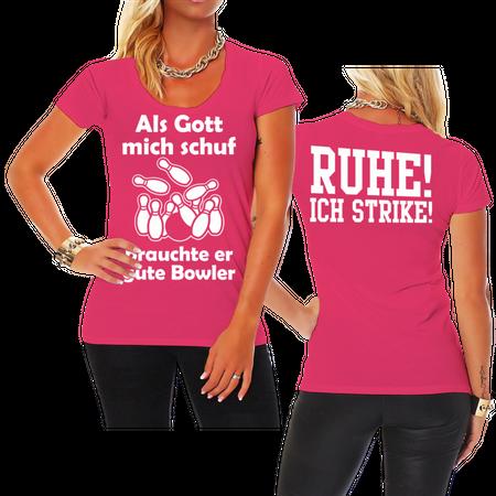 Frauen Shirt Als Gott mich schuf - BOWLER
