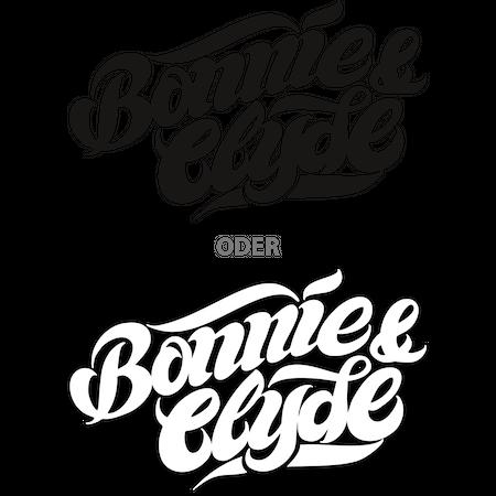 Aufkleber Bonnie & Clyde