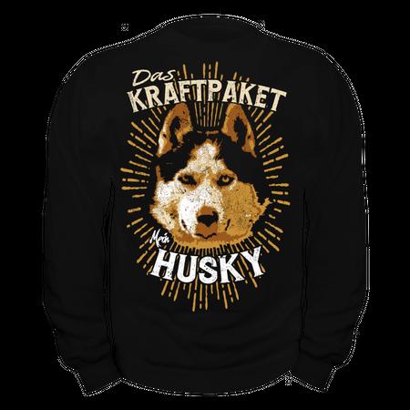 Männer Sweatshirt Siberian Husky - Das Kraftpaket