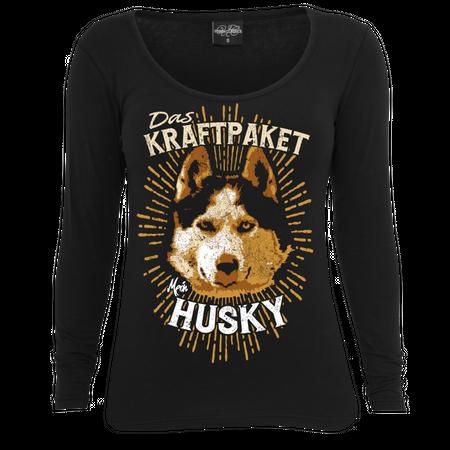 Frauen Longsleeve Siberian Husky - Das Kraftpaket