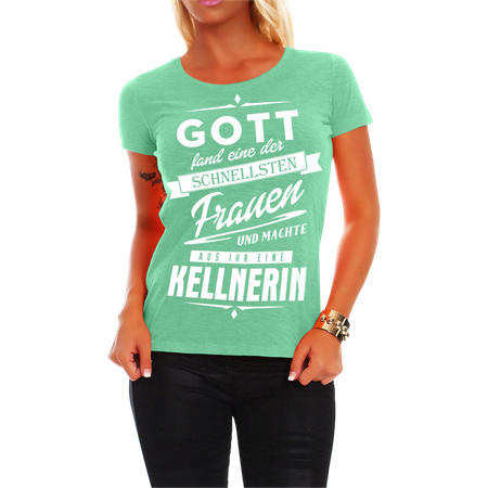 Frauen Shirt Kellnerin