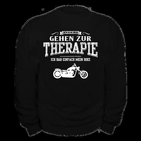 Männer Sweatshirt Andere gehen zur Therapie ICH HAB MEINE CHOPPER