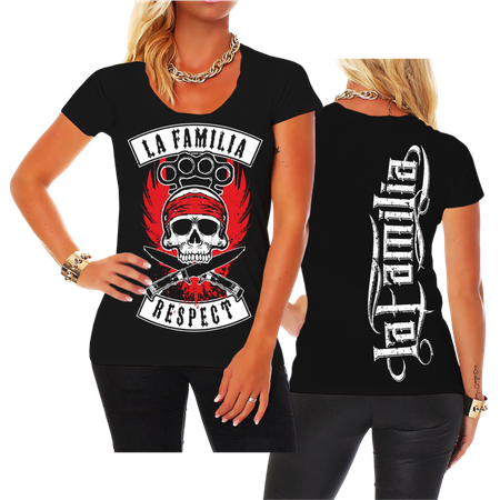 Frauen Shirt La Familia RESPECT