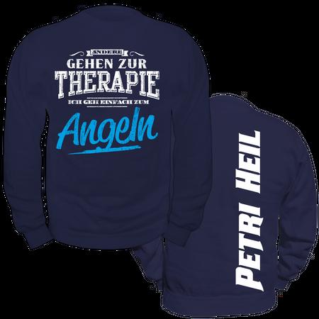 Männer Sweatshirt Andere gehen zur Therapie ICH ANGELN