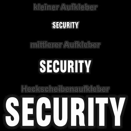 Aufkleber Security