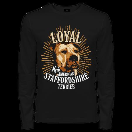 Männer Langarm American Staffordshire Terrier - Loyal