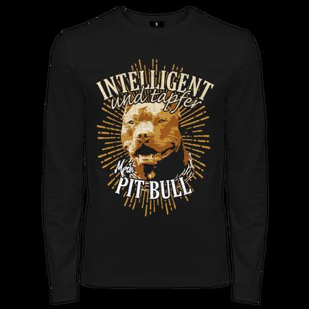 Männer Langarm Pit Bull - Intelligent und Tapfer