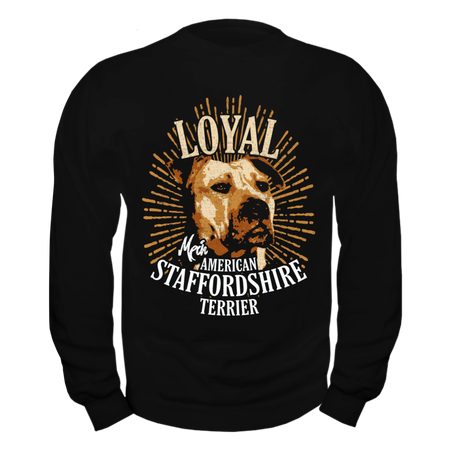 Männer Sweatshirt American Staffordshire Terrier - Loyal