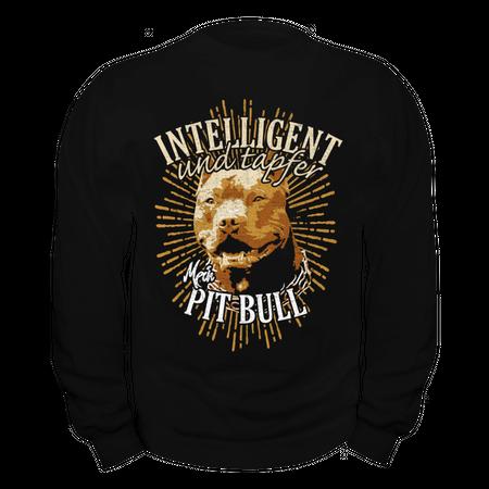 Männer Sweatshirt Pit Bull - Intelligent und Tapfer