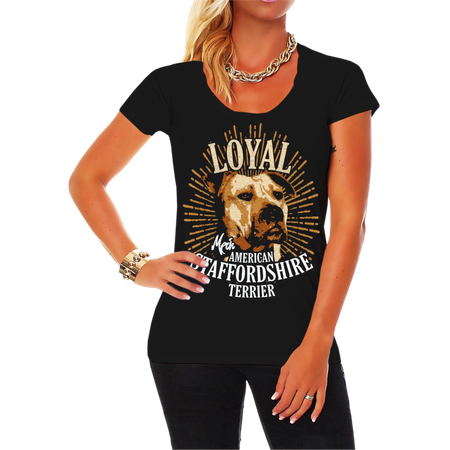 Frauen Shirt American Staffordshire Terrier - Loyal