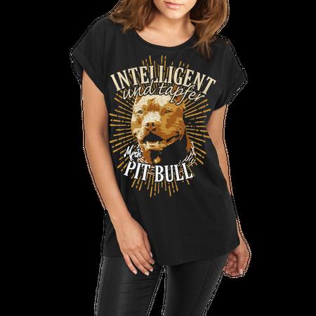 Frauen lässiges Shirt Pit Bull - Intelligent und Tapfer