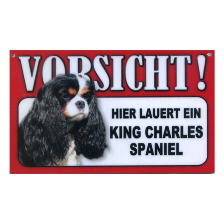 Warnschild King Charles Spaniel