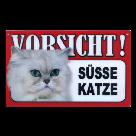 Warnschild Süsse Katze
