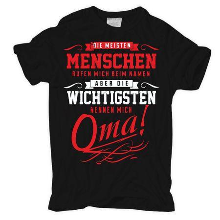 Frauen Shirt Die wichtigsten nennen mich OMA