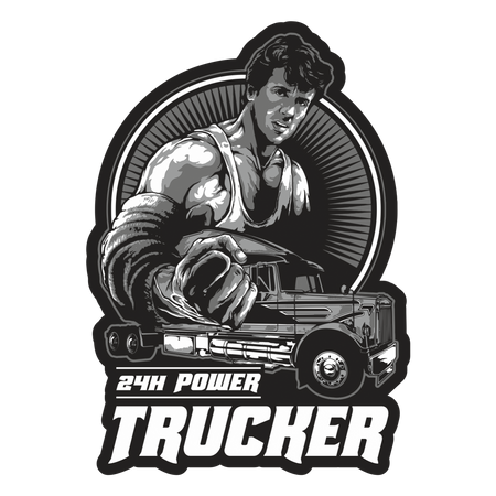 Aufkleber Trucker 24h Power