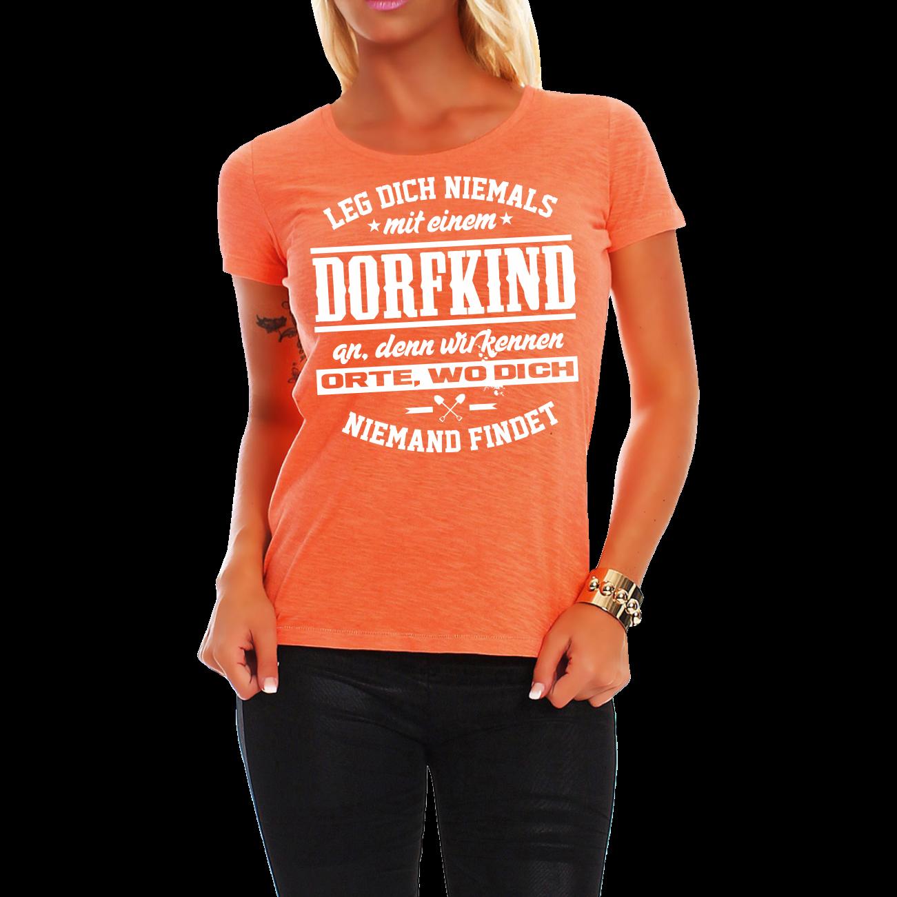 6cec437722a95 Frauen Damen T-Shirt Dorfkind Spruch Fun Spaß Lustig Witzig Geschenk ...