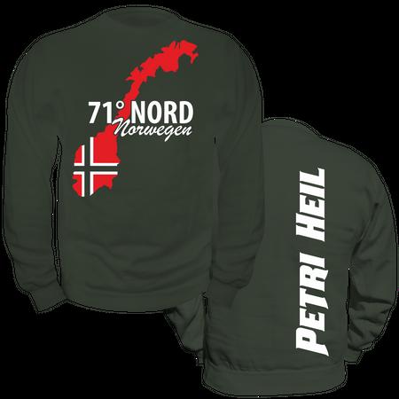 Männer Sweatshirt 71 Grad Nord NORWEGEN